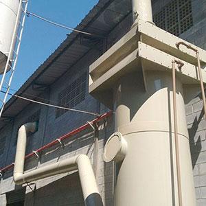 Sistema de exaustão e lavagem de gases